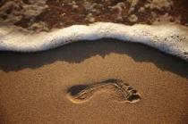footprint sand